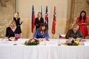 The Memoranda of Understanding for a new period of the EEA and Norway Grants were ceremoniously signed at the Anežský klášter in Prague on 4th September 2017